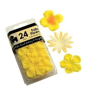 Papermania Silk Flowers (24 pcs) - yellow & orange