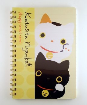 San-X Kutusita Nyanko Spiral Ring Binder Notebook | Lucky Cat