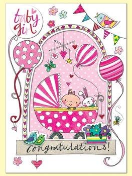 Rachel Ellen Designs Postcards - Wonderland - Baby Girl - Window