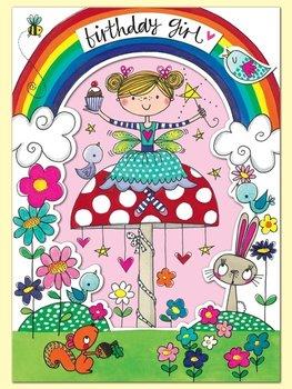 Rachel Ellen Designs Postcards - Wonderland - Birthday Girl - Fairy On Toadstool