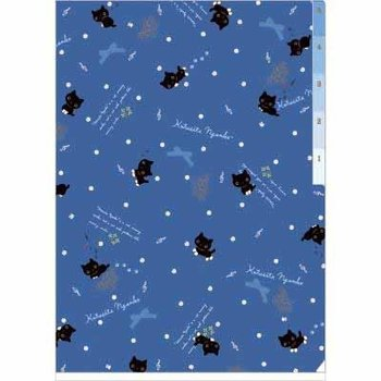 San-X Kutusita Nyanko A4 Plastic File Folder 5-pocket