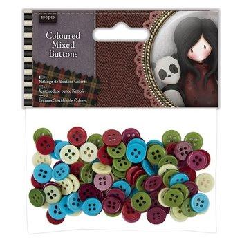 Gorjuss Coloured Mixed Buttons (100pcs) - Santoro Tweed