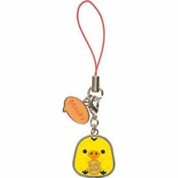 San-X Rilakkuma Kiiroitori Metal-Framed Mascots / Charms
