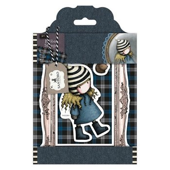Gorjuss Rubber Stamps - Santoro Tweed - The Friendly Hedgehog