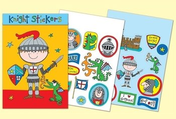 Rachel Ellen Designs Sticker Match Note Pads | STMNT5 Knight Stickers