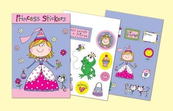 Rachel Ellen Designs Sticker Match Note Pads | STMNT4 Princess Stickers