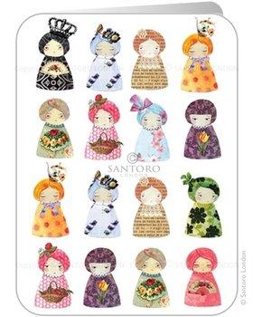 Santoro Eclectic Collection Dubbele Wenskaart | Dolls