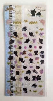 San-X Kutusita Nyanko Seal Sticker | Piano and Music