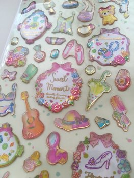 Q-Lia Clear Epoxy Stickers | Sweet Moment