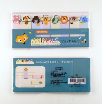 Index Sticky Notes | Animals