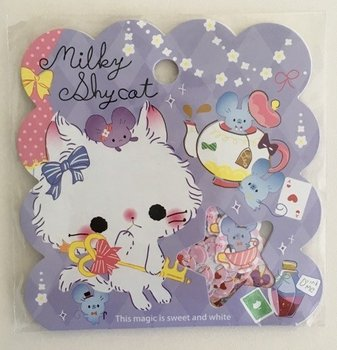 Sticker Flakes Sack Q-Lia | Milky Shy Cat