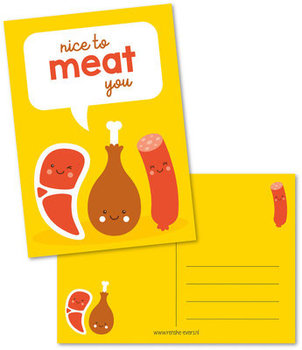 Postcard Renske Evers | Nice to meat you