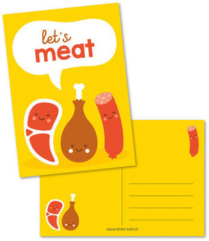 Postcard Renske Evers | Let's meat