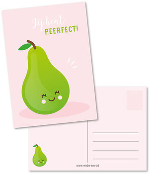 Postcard Renske Evers | Jij bent peerfect!