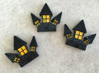 Flatbacks Resin Charms | Haunted House
