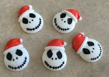 Flatbacks Resin Charms | Skull with Red Hat