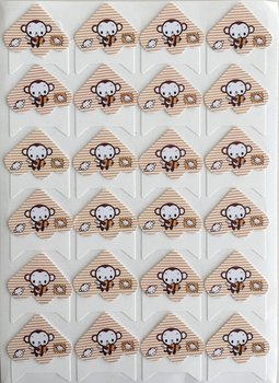 Photo Corner Stickers | Monkey Stripes