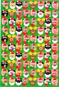 Mindwave Christmas CircleSeals Sticker | Christmas Animals