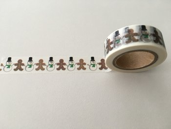Christmas Washi Masking Tape | Snowmen and Gingerbread Men