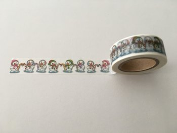Christmas Washi Masking Tape | Snowmen with Candy Cane