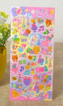 Kawaii Puffy Epoxy Stickers | Bear and Symphony