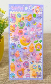 Kawaii Puffy Epoxy Stickers | Pocket Tail
