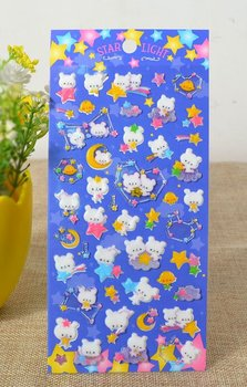 Kawaii Puffy Epoxy Stickers | Star Light