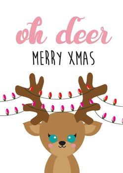 Studio Inktvis Postcard | Oh Deer Merry Xmas