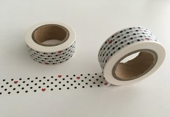 Washi Masking Tape | Dots and Hearts