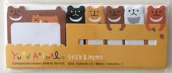 Index Sticky & Memo Notes Yuru Animal | Bear