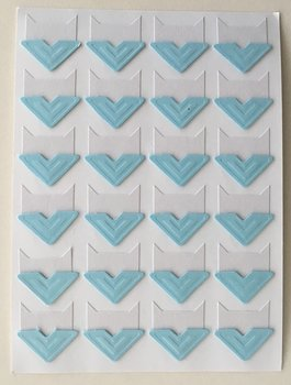 Photo Corner Stickers | Light Blue