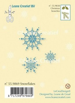 Leane Creatief Clear Stamp | Snowflakes