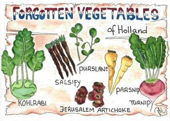 Food/Recipe Postcard by PtiSchti | Forgotten Vegetables