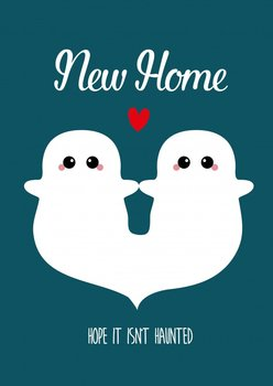 Studio Inktvis Postcard | New Home hope it isn't haunted