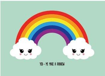 Studio Inktvis Postcard | You and me make a rainbow