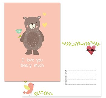 Postcard LittleLeftyLou | Cute Animals - Bear