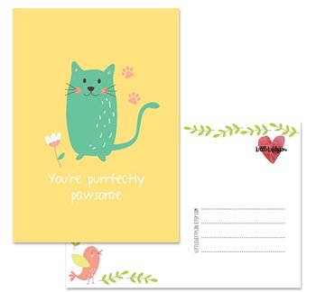 Postcard LittleLeftyLou | Cute Animals - Cat