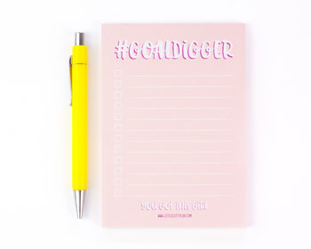 LittleLeftyLou A6 Notepad | Goaldigger