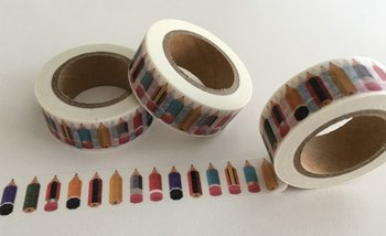 Washi Masking Tape | Rainbow Pencils