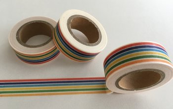 Washi Masking Tape | Rainbow Stripes