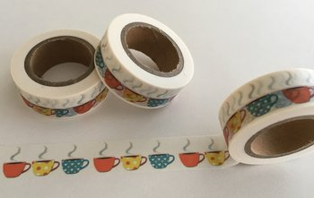 Washi Masking Tape | Hot Cups