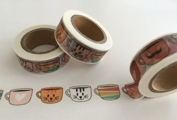 Washi Masking Tape | Kawaii Cup Cats