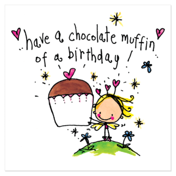 Juicy Lucy Designs Greeting Card - Chocolate Muffin