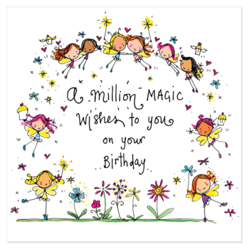 Juicy Lucy Designs Greeting Card - A million magic wishes to you on your birthday!
