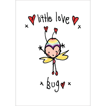 Juicy Lucy Designs Postcard - Little love bug!