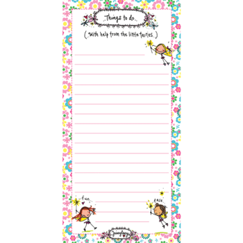 Juicy Lucy Designs Listpad | Things to do with help from little fairies..