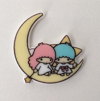 Flatbacks Planar Resin Charms | Little Twin Stars Sitting on the Moon