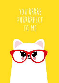 Studio Inktvis Postcard | You'rrrre Purrrrfect to me
