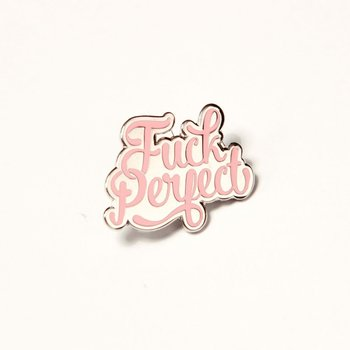 Enamel Pin from Studio Inktvis | Fuck Perfect Pink