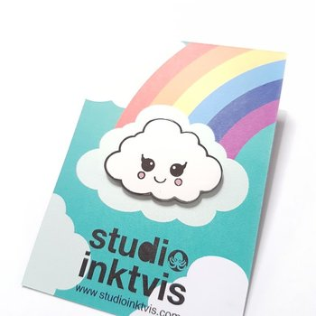 Enamel Pin from Studio Inktvis | Kawaii Cloud